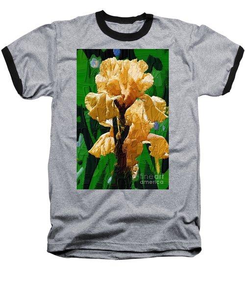 Yellow Iris Baseball T-Shirt by Diane E Berry
