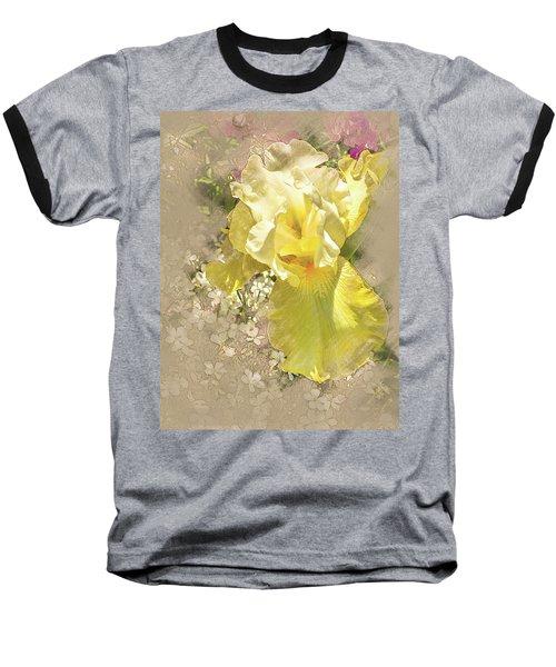 Yellow Iris Baseball T-Shirt