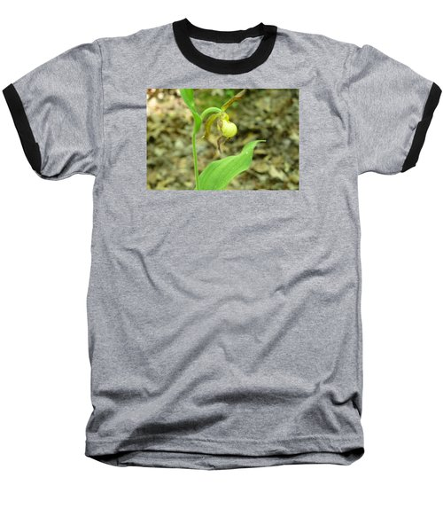 Baseball T-Shirt featuring the photograph Yellow Lady-slipper by Linda Geiger