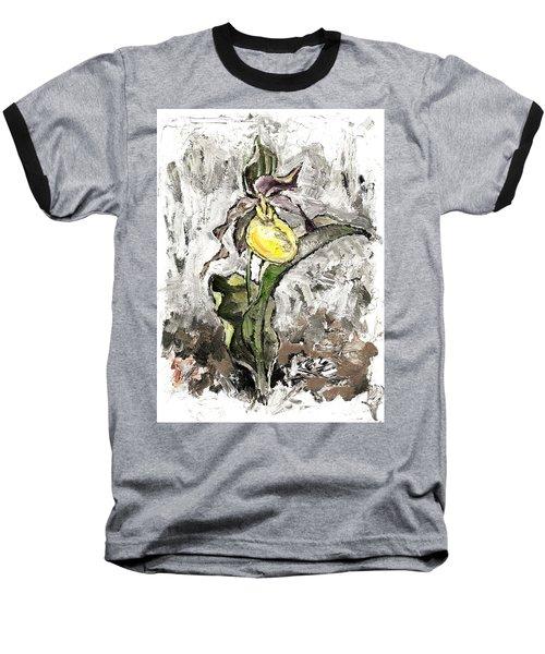 Yellow Lady's Slipper Baseball T-Shirt