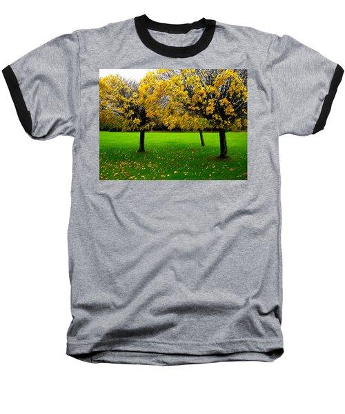 Yellow Leaves At Muckross Gardens Killarney Baseball T-Shirt