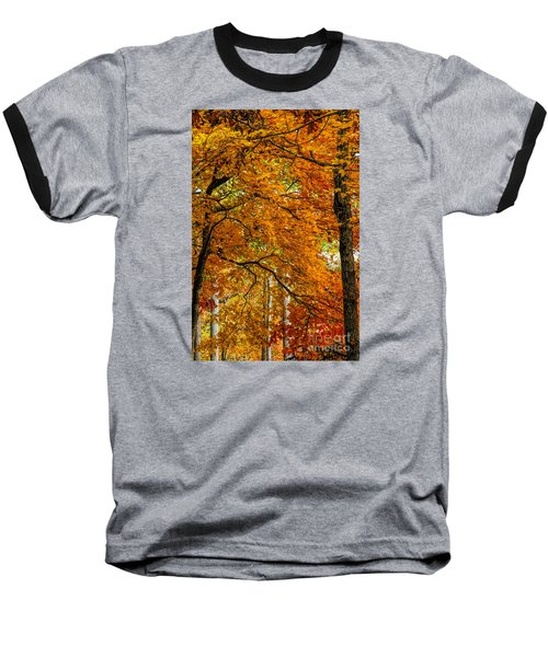 Baseball T-Shirt featuring the photograph Yellow Leaves by Barbara Bowen