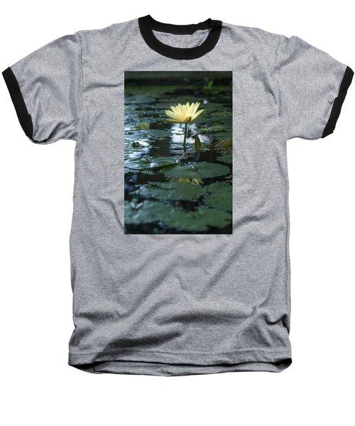 Yellow Lilly Tranquility Baseball T-Shirt