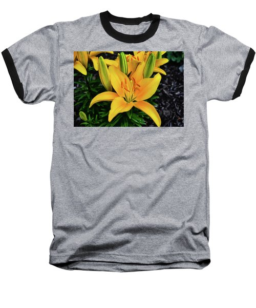 Baseball T-Shirt featuring the photograph Yellow Lily 008 by George Bostian