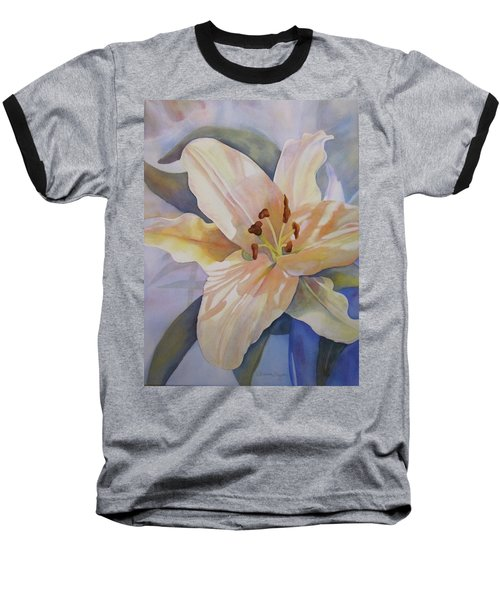Yellow Lily Baseball T-Shirt by Teresa Beyer