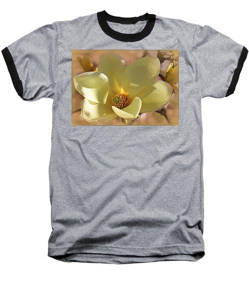 Yellow Magnolia In Full Bloom Baseball T-Shirt