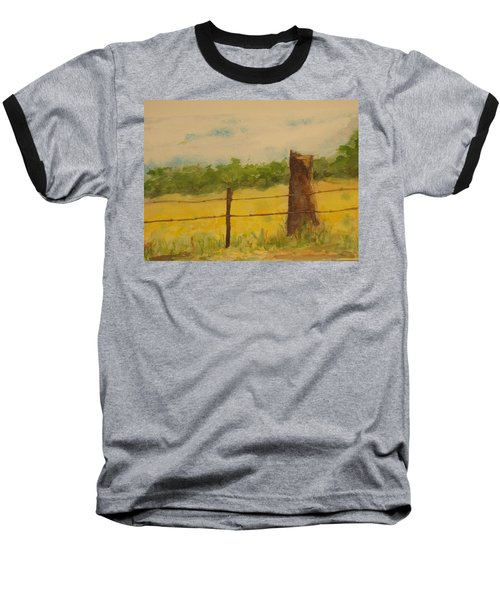 Baseball T-Shirt featuring the painting Yellow Meadow  by Vicki  Housel