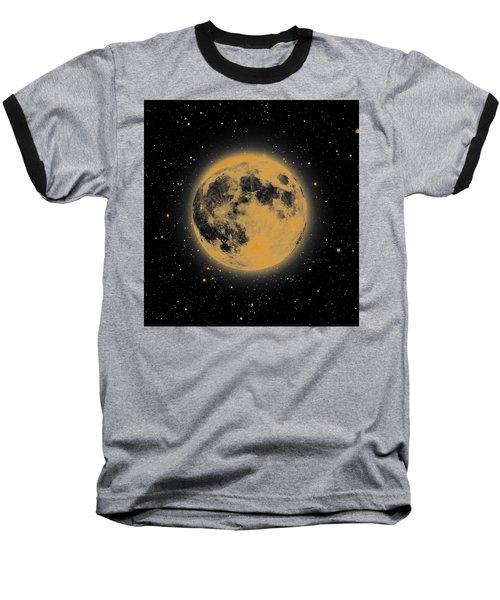 Yellow Moon Baseball T-Shirt by Thomas M Pikolin