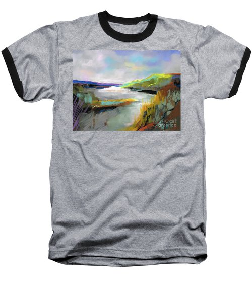 Yellow Mountain Baseball T-Shirt by Frances Marino