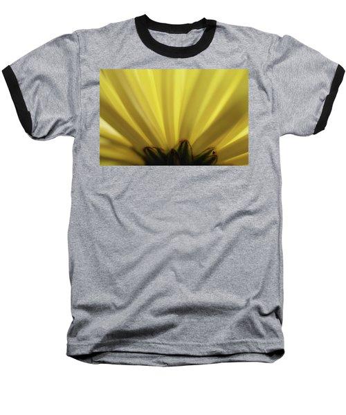 Yellow Mum Petals Baseball T-Shirt