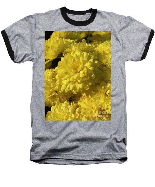 Yellow Mums Baseball T-Shirt