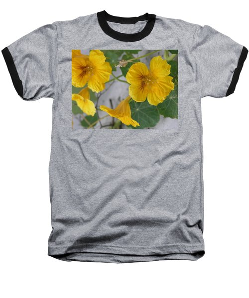Yellow Nasturtium Baseball T-Shirt