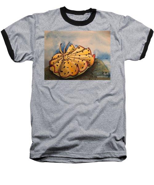 Yellow Nudibranch Baseball T-Shirt