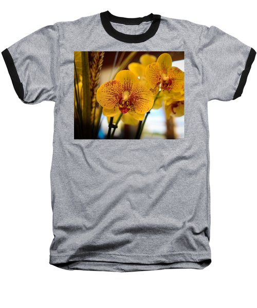Yellow Orchis Baseball T-Shirt