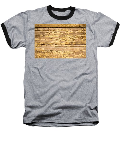Baseball T-Shirt featuring the photograph Yellow Painted Aged Wood by John Williams