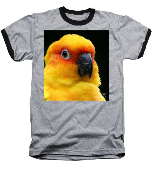 Yellow Parrot Closeup Baseball T-Shirt