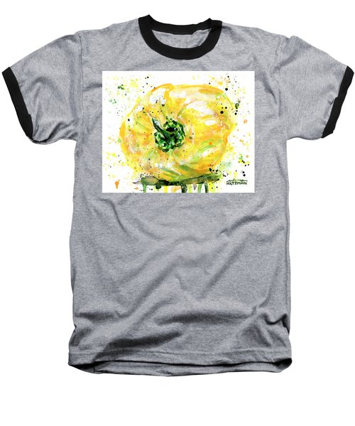 Yellow Pepper Baseball T-Shirt by Arleana Holtzmann