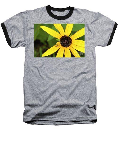 Yellow Petaled Flower With Bug Baseball T-Shirt