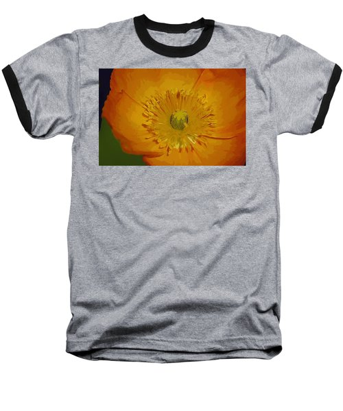 Baseball T-Shirt featuring the photograph Yellow Poppy by Donna Bentley