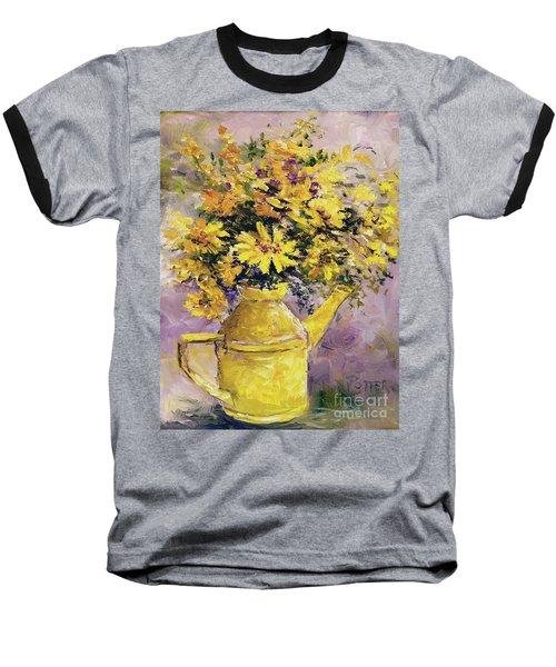 Yellow Pot Of Sunshine Baseball T-Shirt
