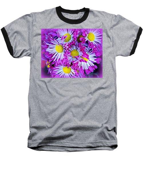Yellow Purple And White Baseball T-Shirt