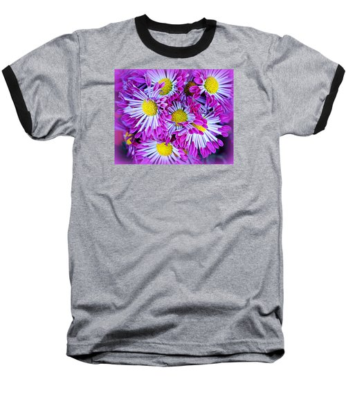 Yellow Purple And White Baseball T-Shirt