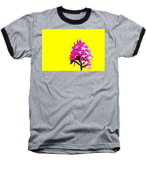 Yellow Pyramid Orchid Baseball T-Shirt by Richard Patmore