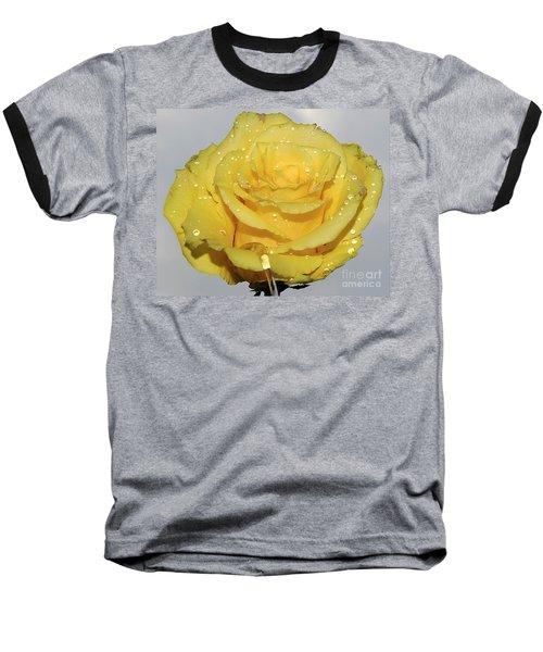 Baseball T-Shirt featuring the photograph Yellow Rose by Elvira Ladocki