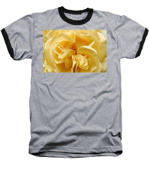 Yellow Ruffles - Rose Baseball T-Shirt
