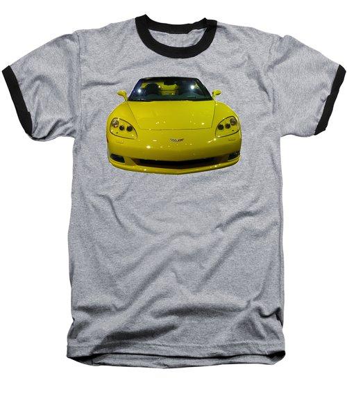 Yellow Sports Car Front Baseball T-Shirt