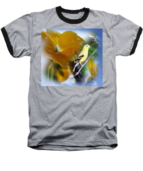 Yellow Spring Baseball T-Shirt by Cathy  Beharriell