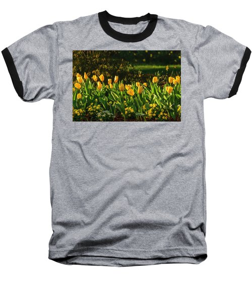 Yellow Spring Fever Baseball T-Shirt