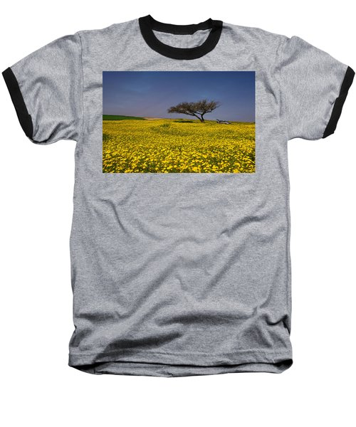 Yellow Spring Baseball T-Shirt by Uri Baruch