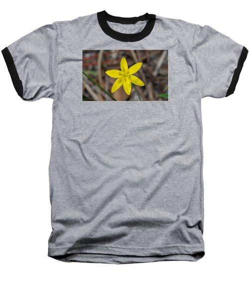 Yellow Star Grass Flower Baseball T-Shirt
