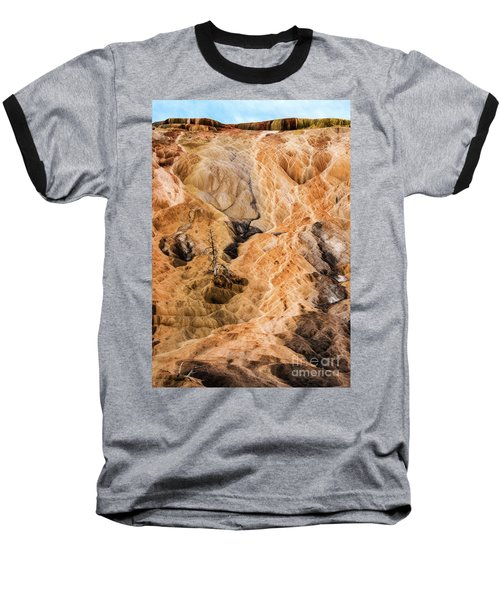 Baseball T-Shirt featuring the photograph Yellow Stone National Park Abstract by Mae Wertz