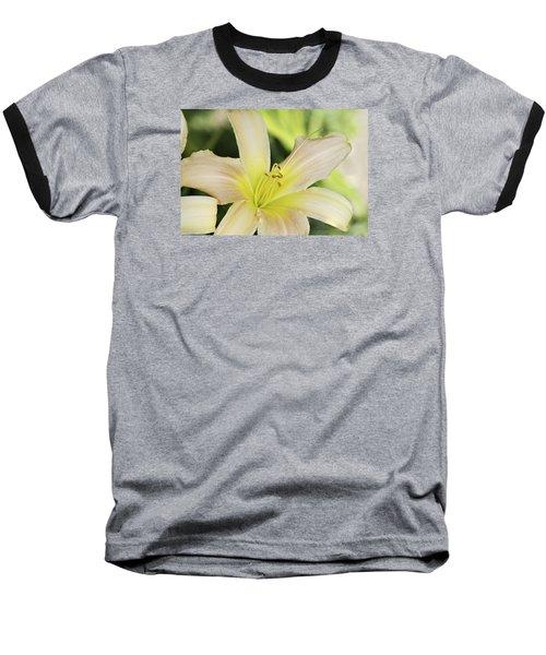 Yellow Tan Lily 1 Baseball T-Shirt