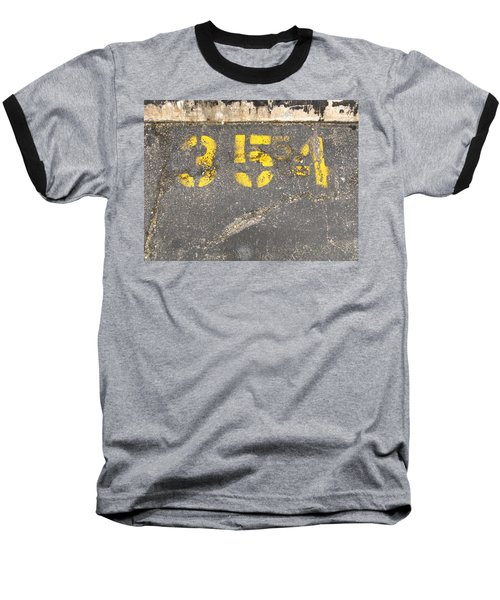 Yellow Three Five Five Four Baseball T-Shirt