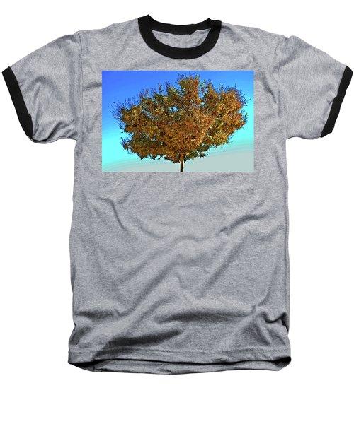 Yellow Tree Blue Sky Baseball T-Shirt
