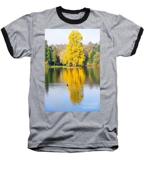 Yellow Tree Reflection Baseball T-Shirt