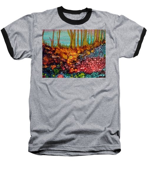 Yellow Trees Baseball T-Shirt