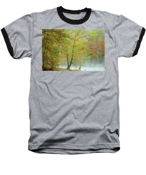 Baseball T-Shirt featuring the photograph Yellow Trees by Iris Greenwell