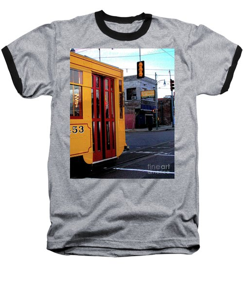 Yellow Trolley At Earnestine And Hazels Baseball T-Shirt