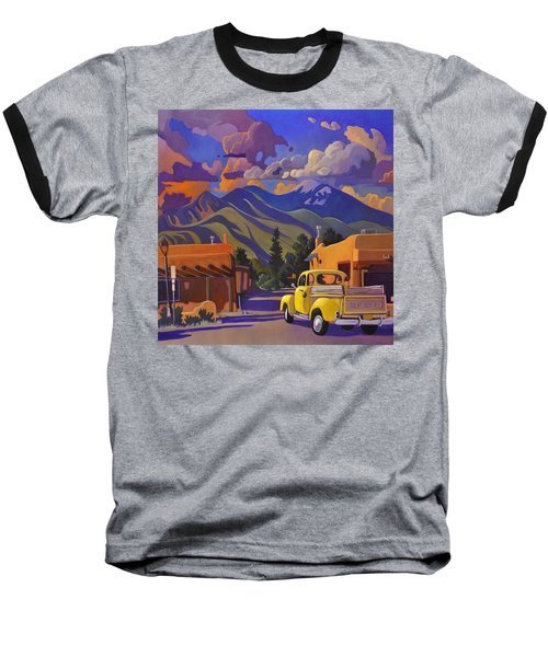 Yellow Truck Square Baseball T-Shirt