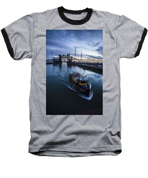 Yellow Tug Boat Approaching  Baseball T-Shirt