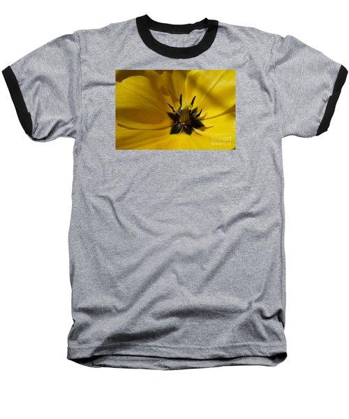 Yellow Tulip 1 Baseball T-Shirt by Jean Bernard Roussilhe