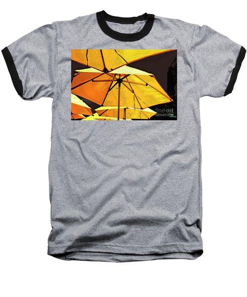 Yellow Umbrellas Baseball T-Shirt
