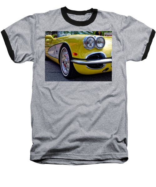 Yellow Vette Baseball T-Shirt
