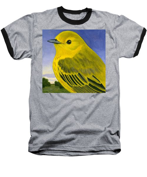 Yellow Warbler Baseball T-Shirt by Francois Girard
