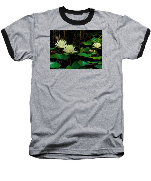 Yellow Water Lilies Baseball T-Shirt