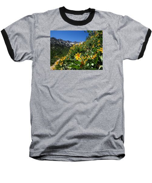 Yellow Wildflowers Baseball T-Shirt